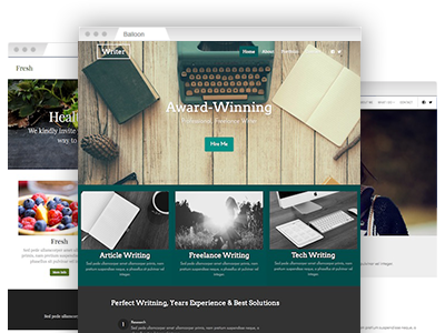 A selection of easy to re–design site templates